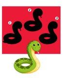 Jeu 76, la nuance du serpent Image libre de droits