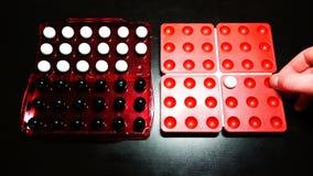 Jeu antique de puzzle du Pentagone de Chinois pour deux joueurs clips vidéos