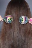 Longs cheveux de couleur brune Photographie stock