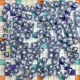 Jeu avec des cubes en métal Image libre de droits
