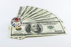 Jeu avec des dollars Images libres de droits