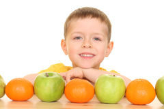 Jeu avec des fruits Images stock