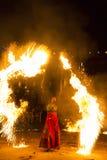 Jeu avec l'incendie Image stock