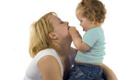 Jeu avec la maman Images libres de droits
