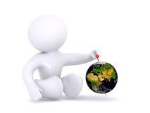 Jeu avec la planète Image libre de droits