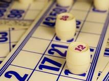 Jeu, bingo-test, cartes, plans rapprochés Photos libres de droits