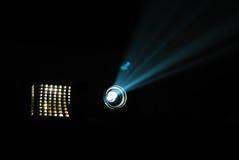 Jeu bleu de projecteur de film Photos stock