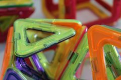 Jeu coloré 3D d'aimant pour des enfants Photo libre de droits
