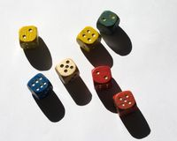 jeu coloré de cube Photographie stock libre de droits