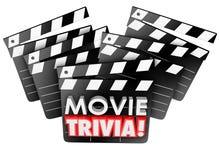 Jeu-concours d'essai de jeu de panneaux de clapet de studio cinématographique de baliverne de film Images libres de droits