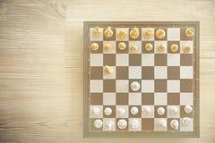 Jeu d'échecs à bord Photographie stock libre de droits