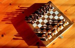 Jeu d'échecs avec des ombres Photo libre de droits