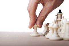 Jeu d'échecs de jeu d'homme Images libres de droits