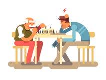 Jeu d'échecs de jeu de personnes illustration libre de droits