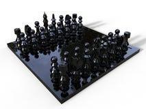 Jeu d'échecs en verre foncé illustration stock