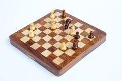 Jeu d'échecs Le roi d'échecs est fait échec et mat, jeu d'échecs plus de Images stock