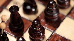 Jeu d'échecs tiré sur le glisseur de mouvement banque de vidéos