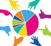 Jeu d'équipe avec le graphique coloré de morceaux Images libres de droits