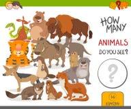 Jeu d'activité de combien d'animaux Photographie stock libre de droits