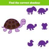 Jeu d'assortiment d'ombre pour des enfants Trouvez l'ombre droite Activité pour les enfants préscolaires Photos animales pour des Photographie stock