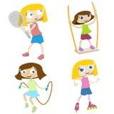 Jeu d'enfants de dessin animé Images stock