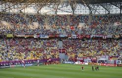 Jeu 2012 d'EURO de l'UEFA Allemagne contre le Danemark Photographie stock
