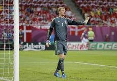 Jeu 2012 d'EURO de l'UEFA Allemagne contre le Danemark Image stock