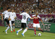 Jeu 2012 d'EURO de l'UEFA Allemagne contre le Danemark Photo libre de droits