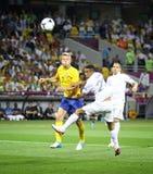 Jeu 2012 d'EURO de l'UEFA Suède contre des Frances Image stock