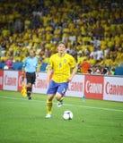 Jeu 2012 d'EURO de l'UEFA Suède contre des Frances Images libres de droits