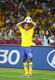 Jeu 2012 d'EURO de l'UEFA Suède contre des Frances Photographie stock libre de droits