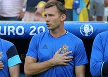 Jeu 2016 d'EURO de l'UEFA Ukraine v Pologne Photographie stock libre de droits
