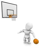 jeu d'homme du basket-ball 3d Photographie stock