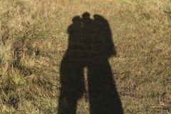 Jeu d'ombre des amants Photographie stock libre de droits