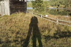 Jeu d'ombre des amants Photo libre de droits