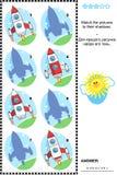 Jeu d'ombre - fusées ou vaisseaux spatiaux illustration libre de droits