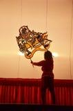 Jeu d'ombre grand chez Wat Khanon/Ratcha Buri/Thaïlande Photos stock