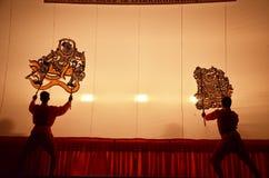 Jeu d'ombre grand chez Wat Khanon/Ratcha Buri/Thaïlande Images stock