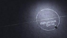 Jeu dangereux Fond illustration libre de droits