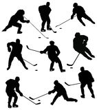Jeu dans l'hockey Photos stock