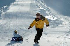 Jeu dans la neige Photographie stock libre de droits