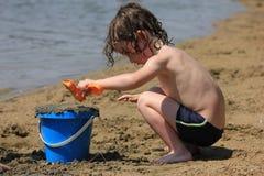 Jeu dans le sable Photographie stock