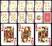 jeu de 2 cartes de vingt-et-un Image stock