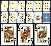 jeu de 3 cartes de vingt-et-un illustration libre de droits