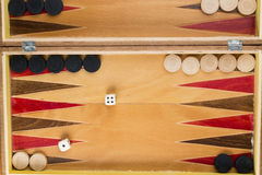 Jeu de backgammon Images stock