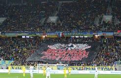 Jeu 2016 de barrage d'EURO de l'UEFA Ukraine contre la Slovénie Photos stock