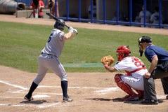 Jeu de base-ball Photos libres de droits