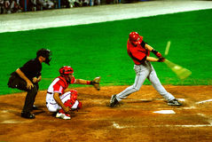jeu de base-ball du Cuba-Canada photo stock