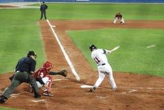 Jeu de base-ball du l'Etats-Unis-Venezuela Photographie stock