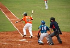 Jeu de base-ball professionnel Image libre de droits